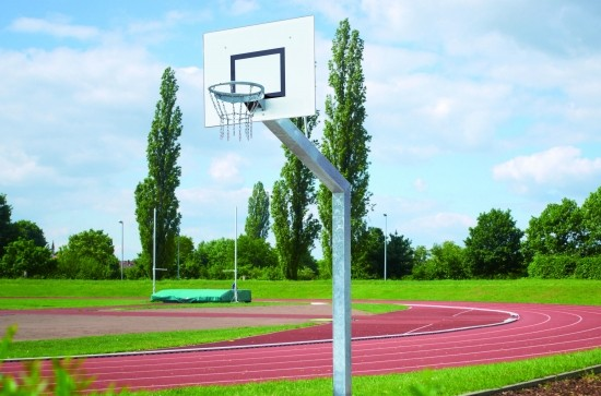 Big Duty Basketball System with Alu backboard 120 x 90 cm square