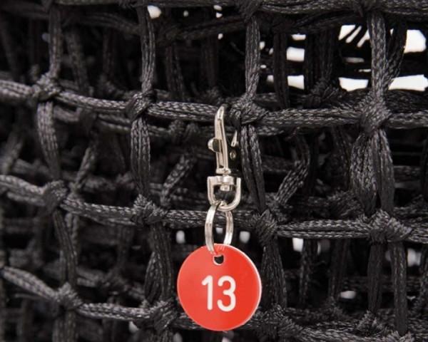 Tennisnetz Nummerierung 1-6