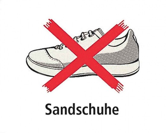 Shoe Sign - German