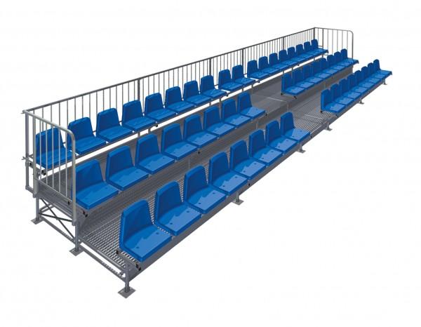 Tribüne Court Royal mit 50 Sitzen - dreireihig