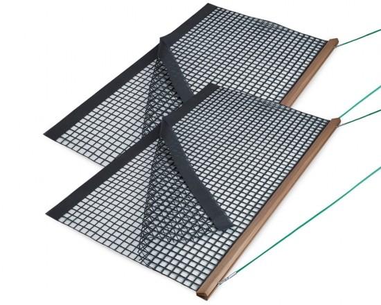 SCHLEPPNETZ PAKET 2 x Holz-Schleppnetz PVC doppelt