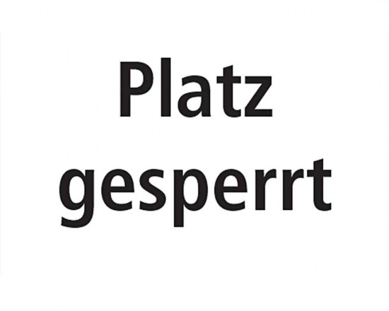 Court Closed Sign - German