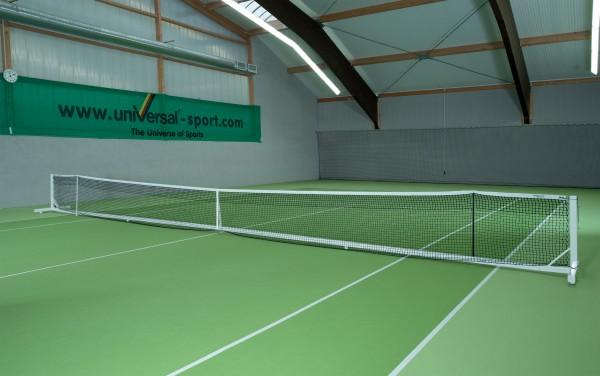 Tennisnetzanlage Court Royal II Turnier weiß