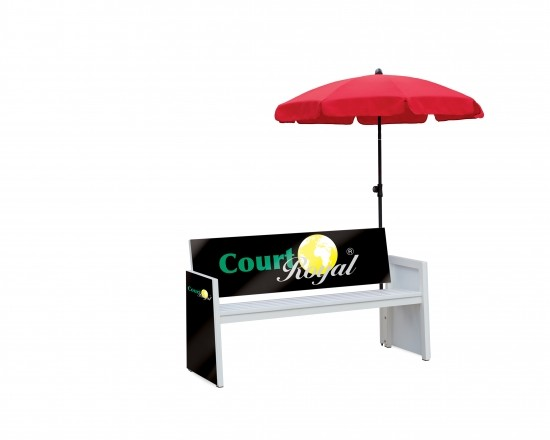Umbrella Holder for Players' Bench