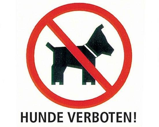 Hundeverbotsschild - Deutsch