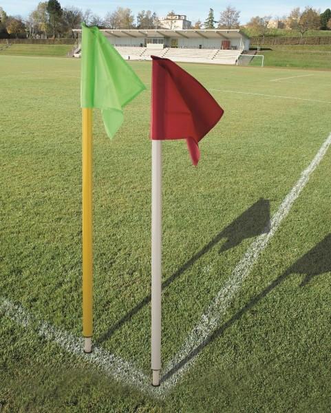 Grenzstange mit Kippgelenk 50 inkl. roter Fahne - Grenzstange in 2 Farben