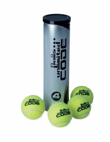Tennisball Balls Unlimited Code Black - 4er Dose