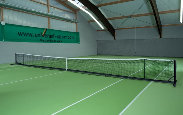 Tennisnetzanlage Court Royal II Turnier schwarz
