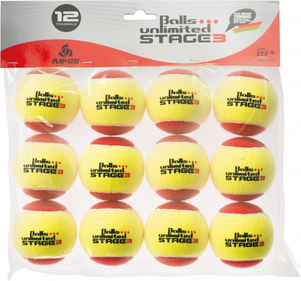 Tennisball Balls Unlimited Stage 3 - pack of 12