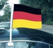 Autofahne Deutschland und Fußball